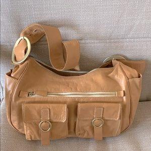Genuine leather Italian shoulder bag.